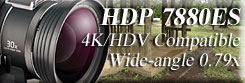 HDP-7880ES Wideangle conversion lens for Widezoom lens incorporated 4K camera